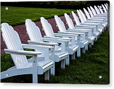 Congress Hall Chairs Acrylic Print by Tom Singleton