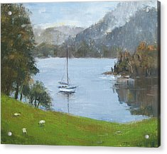 Coniston Water Acrylic Print by Elaine Monnig