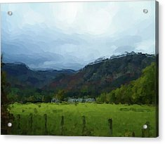 Coniston Watercolour Sketch Acrylic Print
