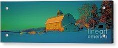 Acrylic Print featuring the photograph Conley Rd White Barn by Tom Jelen