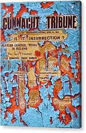Connacht Tribune 1916 Acrylic Print by Tomas OMaoldomhnaigh
