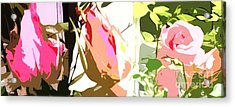 Connected Ladies Camo Acrylic Print by Catherine Lott