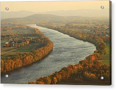Connecticut River Mount Sugarloaf Acrylic Print by John Burk