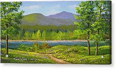 Connecticut River Spring Acrylic Print by Frank Wilson
