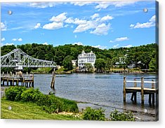 Connecticut River - Swing Bridge - Goodspeed Opera House Acrylic Print