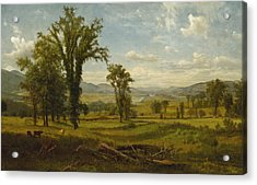 Acrylic Print featuring the painting Connecticut River Valley, Claremont, New Hampshire by Albert Bierstadt