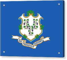 Connecticut State Flag Acrylic Print by American School