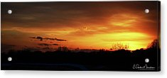 Connecticut Sunset Acrylic Print by Gordon Mooneyhan