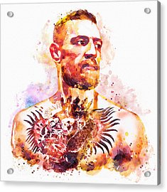 Acrylic Print featuring the mixed media Conor Mcgregor by Marian Voicu