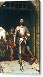 Conquest Acrylic Print by Edmund Leighton