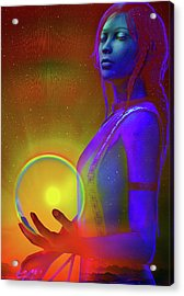 Acrylic Print featuring the digital art Consciousness by Shadowlea Is