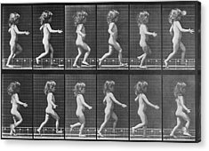 Consecutive Images Of A Little Nude Acrylic Print by Everett