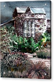 Conservatory Gardens In Scotland Acrylic Print by Mindy Newman