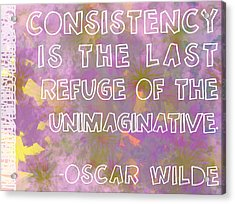 Consistency Acrylic Print by Abbey Hughes