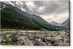 Consolation Lakes And Boulders Acrylic Print by Joan Carroll