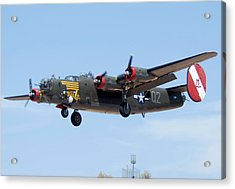Consolidated B-24j Liberator N224j Witchcraft Deer Valley Airport Arizona April 20 2011  Acrylic Print by Brian Lockett