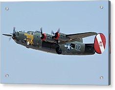 Acrylic Print featuring the photograph Consolidated B-24j Liberator N224j Witchcraft Phoenix-mesa Gateway Airport Arizona April 15 2016 by Brian Lockett