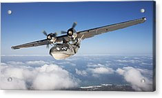 Consolidated Pby Catalina Acrylic Print by Larry McManus
