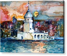 Constantinople Turkey Acrylic Print by Mindy Newman