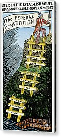 Constitution Cartoon Acrylic Print by Granger