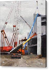 Construction Study In Grey Acrylic Print by Nancy Albrecht