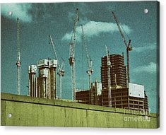 Construction Works In Stratford Acrylic Print by Jasna Buncic
