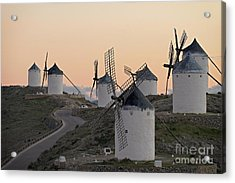 Acrylic Print featuring the photograph Consuegra Windmills by Heiko Koehrer-Wagner
