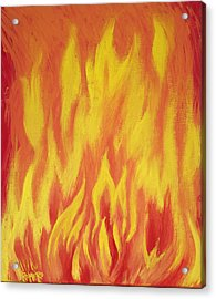 Acrylic Print featuring the painting Consuming Fire by Antonio Romero