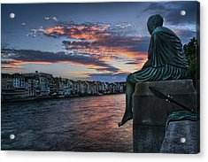 Contemplating Life In Basel Acrylic Print