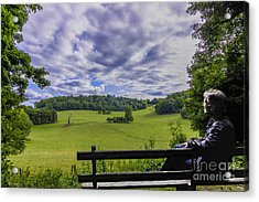 Contemplating The Beautiful Scenery Acrylic Print