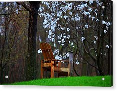 Contemplation Chair Acrylic Print by David Christiansen