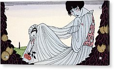Contemplation Acrylic Print by Georges Barbier