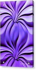 Contemplation In Purple Acrylic Print