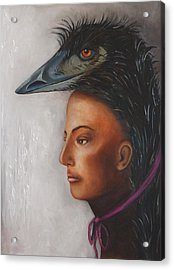 Contemplation Acrylic Print by Leah Saulnier The Painting Maniac