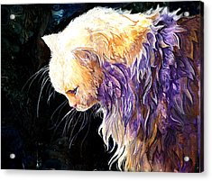 Acrylic Print featuring the painting Contemplation by Sherry Shipley