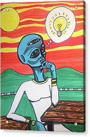 Contemplative Alien Acrylic Print