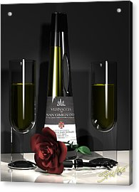 Contempoary Wine And Roses Acrylic Print