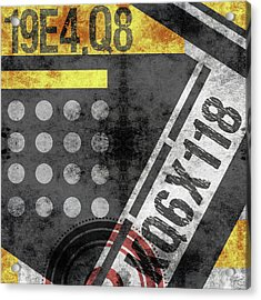 Contemporary Abstract Industrial Art - Distressed Metal - Black And Gold Acrylic Print