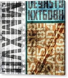 Contemporary Abstract Industrial Art - Distressed Metal - Mmxvii Acrylic Print