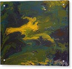Contemporary Abstract Painting -  Goldilocks Zone Terrain No 2 Acrylic Print by Adam Asar