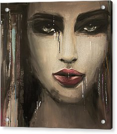 Contemporary Abstract Portrait Painting 181 IIi Acrylic Print by Mawra Tahreem