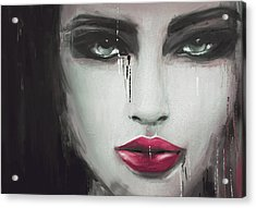 Contemporary Abstract Portrait Painting 181 Iv Acrylic Print by Mawra Tahreem