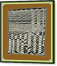 Acrylic Print featuring the digital art Contemporary African Tribal Kuba Design  by Vagabond Folk Art - Virginia Vivier