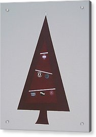 Contemporary Christmas Tree Acrylic Print by Sandy Bostelman