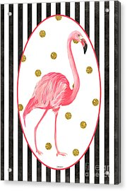 Contemporary Flamingos 2 Acrylic Print by Debbie DeWitt