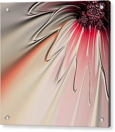 Acrylic Print featuring the digital art Contemporary Flower by Bonnie Bruno