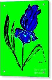 Contemporary Iris Acrylic Print
