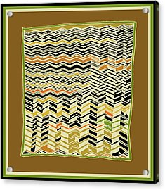 Acrylic Print featuring the digital art Contemporary Kuba Cloth by Vagabond Folk Art - Virginia Vivier