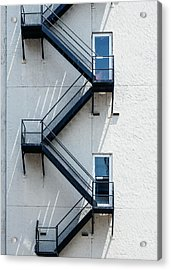 Contemporary Minimalist Photography Of Stairwell Acrylic Print by Dylan Murphy