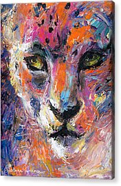 contemporary Wildlife painting cheetah leopard  Acrylic Print